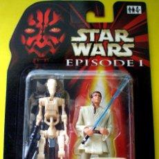Figuras y Muñecos Star Wars: STAR WARS # OBI-WAN KENOBI CON BONUS BATTLE DROID # NUEVO EN SU BLISTER ORIGINAL. DE HASBRO.. Lote 44920309