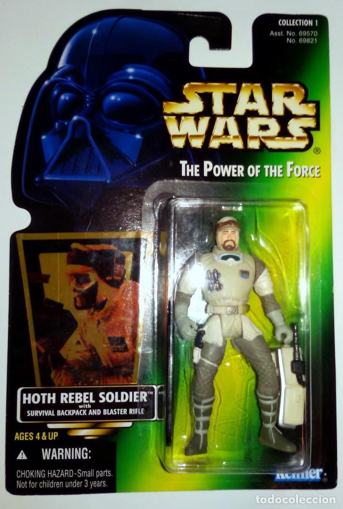 STAR WARS # HOTH REBEL SOLDIER # THE POWER OF THE FORCE - NUEVO EN SU BLISTER ORIGINAL - DE KENNER. (Juguetes - Figuras de Acción - Star Wars)