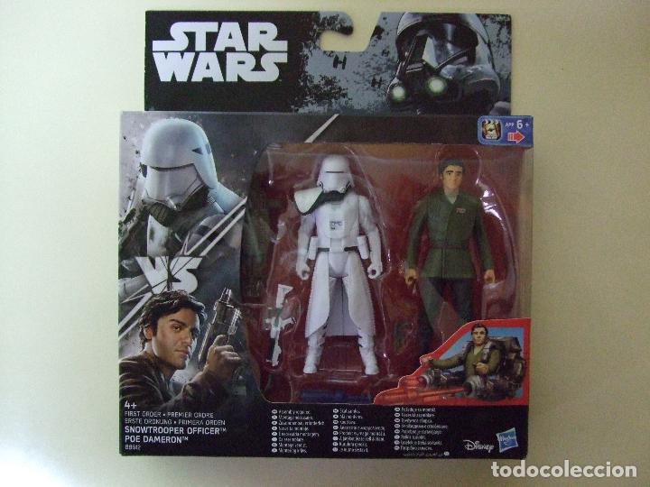 PACK FIGURA SNOWTROOPER OFFICER + POE DAMERON - STAR WARS CAJA TIPO ROGUE ONE DISNEY HASBRO (Juguetes - Figuras de Acción - Star Wars)