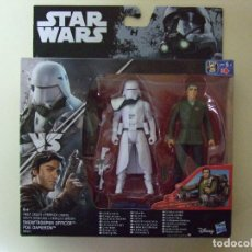Figuras y Muñecos Star Wars: PACK FIGURA SNOWTROOPER OFFICER + POE DAMERON - STAR WARS CAJA TIPO ROGUE ONE DISNEY HASBRO. Lote 76743187