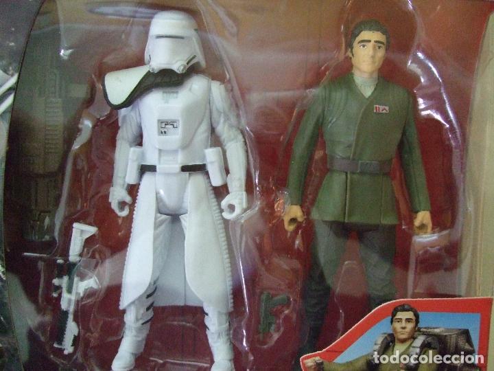 Figuras y Muñecos Star Wars: PACK FIGURA SNOWTROOPER OFFICER + POE DAMERON - STAR WARS CAJA TIPO ROGUE ONE DISNEY HASBRO - Foto 2 - 76743187