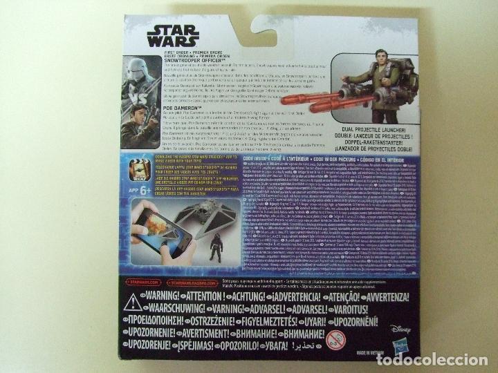 Figuras y Muñecos Star Wars: PACK FIGURA SNOWTROOPER OFFICER + POE DAMERON - STAR WARS CAJA TIPO ROGUE ONE DISNEY HASBRO - Foto 3 - 76743187