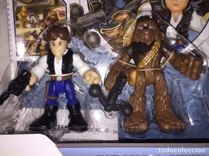 STAR WARS JEDI FORCÉ PLAYSKOOL HÉROES HAN SOLO&CHEBWACCA (Juguetes - Figuras de Acción - Star Wars)