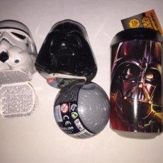 Figuras y Muñecos Star Wars: CHUPACHUPS STAR WARS DARTH VADER Y CASCOS ESTRELLA DE LA MUERTE. Lote 81529643