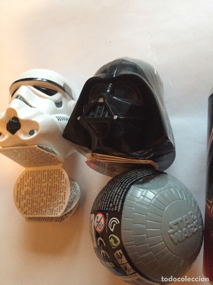 Figuras y Muñecos Star Wars: Chupachups Star Wars Darth Vader y cascos estrella de la muerte - Foto 2 - 81529643