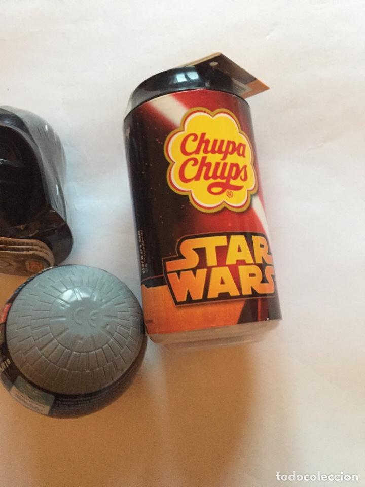 Figuras y Muñecos Star Wars: Chupachups Star Wars Darth Vader y cascos estrella de la muerte - Foto 3 - 81529643