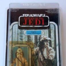 Figuras y Muñecos Star Wars: STAR WARS ORIGINAL VINTAGE KENNER 1983 ROTJ LOGRAY EWOK MEDICINE MAN 65 BACK + CARCASA PROTECTORA. Lote 82065968