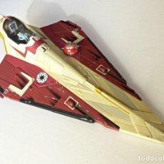 Figuras y Muñecos Star Wars: STAR WARS, NAVE DE OBI-WAN KENOBI'S JEDI STARFIGHTER, SAGA 2002. Lote 82790236