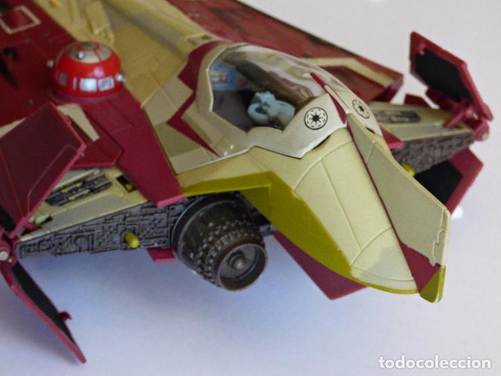 Figuras y Muñecos Star Wars: Star Wars, Nave de obi-wan kenobi's jedi starfighter, saga 2002 - Foto 6 - 82790236