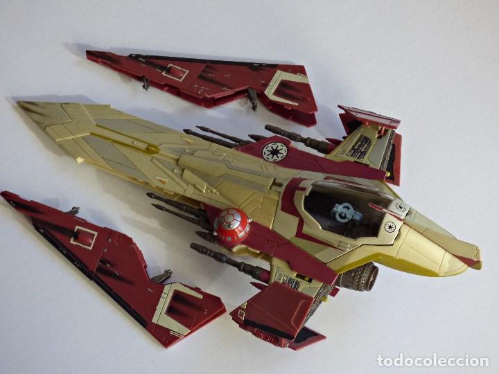 Figuras y Muñecos Star Wars: Star Wars, Nave de obi-wan kenobi's jedi starfighter, saga 2002 - Foto 8 - 82790236