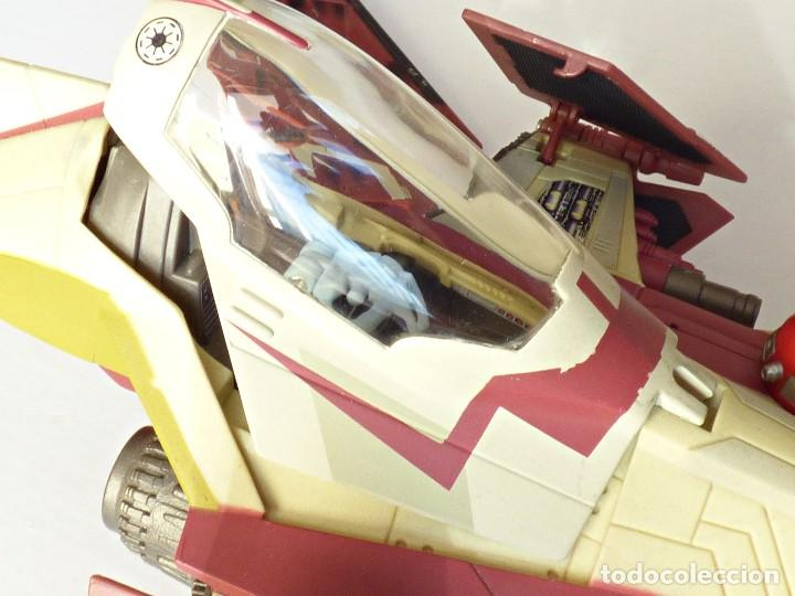 Figuras y Muñecos Star Wars: Star Wars, Nave de obi-wan kenobi's jedi starfighter, saga 2002 - Foto 13 - 82790236