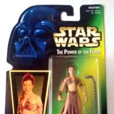Figuras y Muñecos Star Wars: STAR WARS # PRINCESS LEIA ORGANA # THE POWER OF THE FORCE - NUEVO EN SU BLISTER ORIGINAL DE KENNER.. Lote 118283182