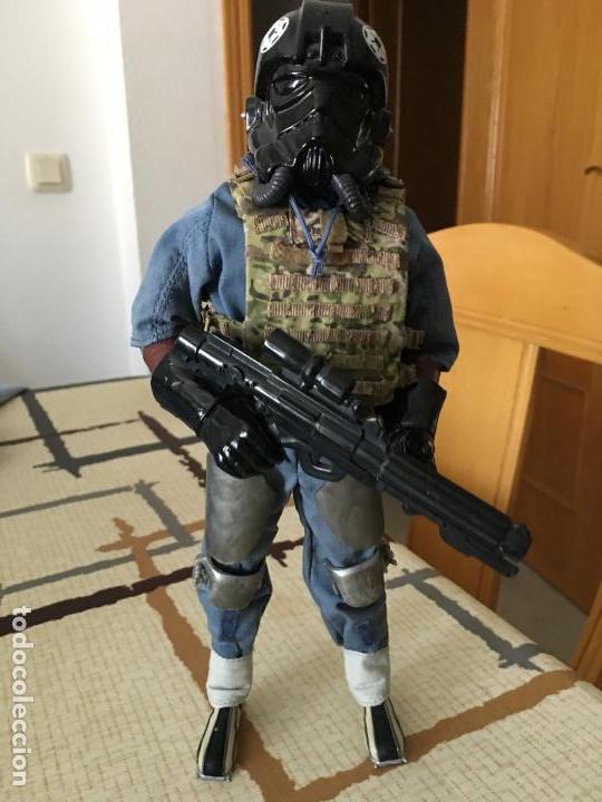 Figuras y Muñecos Star Wars: STAR WARS. Piloto Tie Fighter Imperial. Figura de 1/6. articulada. Customizada. - Foto 8 - 83763508