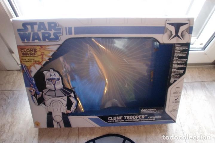 Figuras y Muñecos Star Wars: STAR WARS TRAJE-DISFRAZ RUBIES 2008 CAPTAIN REX.VER FOTOS Y DESCRIPCION - Foto 3 - 147197550