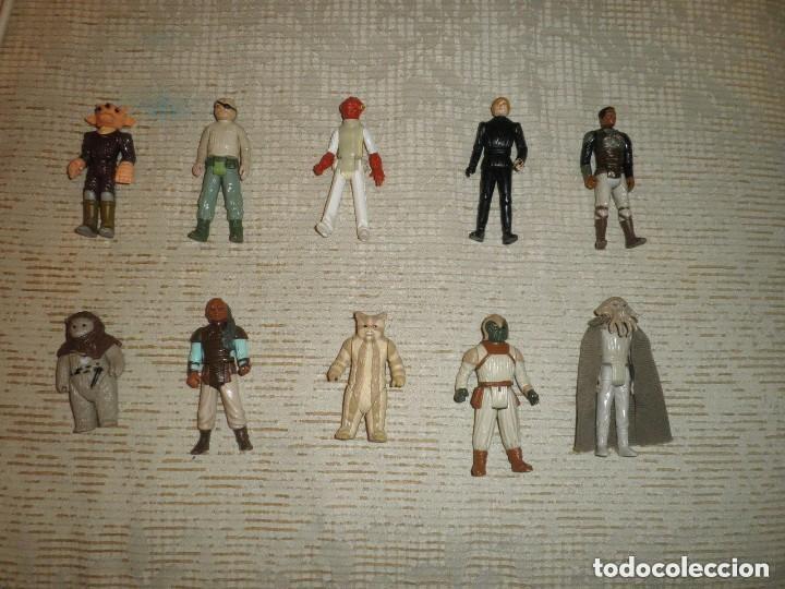 LOTE 10 FIGURAS KENNER STAR WARS LUKE PRUNE FACE REE YEES CHIRPA... 12 (Juguetes - Figuras de Acción - Star Wars)