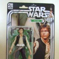 Figuras y Muñecos Star Wars: FIGURA HAN SOLO 15 CM - STAR WARS 40 ANIVERSARIO - 40TH ANNIVERSARY - HASBRO BLÍSTER TIPO KENNER. Lote 168865485