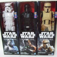 Figuras y Muñecos Star Wars: FIGURA DEATH TROOPER + STORMTROOPER + SHORETROOPER SCARIF 30 CM STAR WARS ROGUE ONE DISNEY HASBRO. Lote 134935726