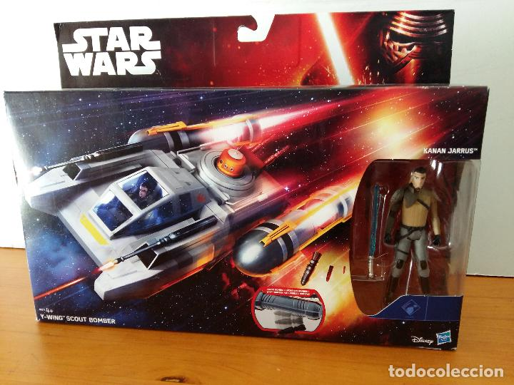STAR WARS KANAN JARRUS Y WING SCOUT BOMBER. (Juguetes - Figuras de Acción - Star Wars)