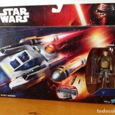 Figuras y Muñecos Star Wars: STAR WARS KANAN JARRUS Y WING SCOUT BOMBER.. Lote 89743672