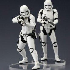Figuras y Muñecos Star Wars: STORMTROOPER FIRST ORDER PACK 2 FIGURAS 18 CM STAR WARS ART FX+ / KOTOBUKIYA - NUEVO. Lote 91173045
