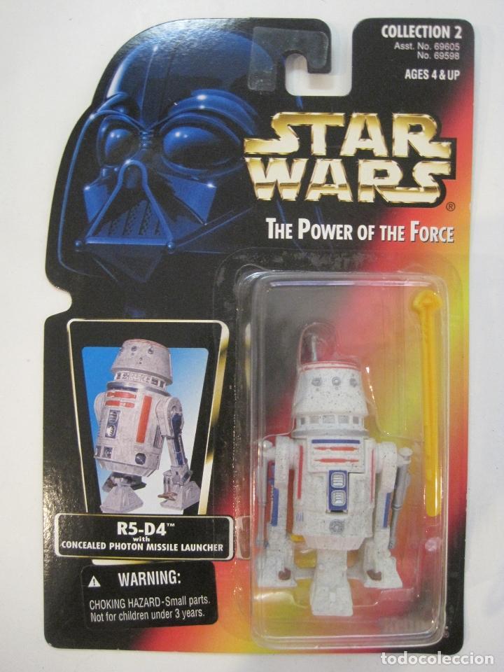 STAR WARS FIGURA R5-D4 DEL AÑO 1996 EN BLISTER Y PROTECTOR PVC (Juguetes - Figuras de Acción - Star Wars)