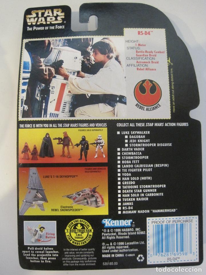 Figuras y Muñecos Star Wars: STAR WARS FIGURA R5-D4 DEL AÑO 1996 EN BLISTER Y PROTECTOR PVC - Foto 5 - 92245755