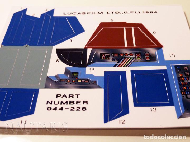 Figuras y Muñecos Star Wars: Reproducción de pegatinas troqueladas para vehículo vintage A-Wing Fighter 1984 - ACABADO MATE - Foto 4 - 94831391