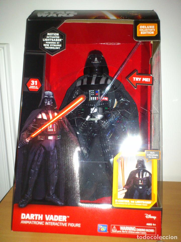 STAR WARS - DARTH VADER - FIGURA - 45 CM - MOVIMIENTO - LUCES SONIDOS - INTERACTIVO - THINKWAY NUEVO (Juguetes - Figuras de Acción - Star Wars)