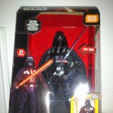 Figuras y Muñecos Star Wars: STAR WARS - DARTH VADER - FIGURA - 45 CM - MOVIMIENTO - LUCES SONIDOS - INTERACTIVO - THINKWAY NUEVO. Lote 94874191