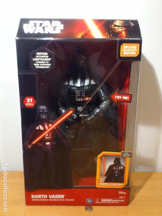 Figuras y Muñecos Star Wars: STAR WARS - DARTH VADER - FIGURA - 45 CM - MOVIMIENTO - LUCES SONIDOS - INTERACTIVO - THINKWAY NUEVO - Foto 2 - 94874191