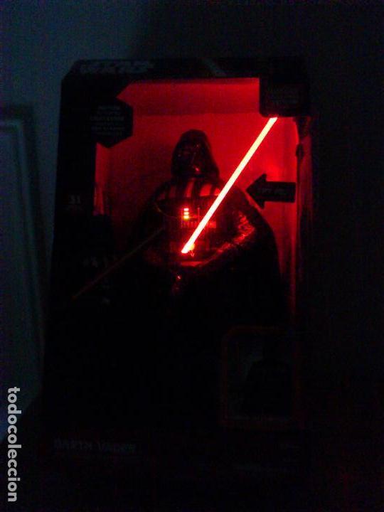 Figuras y Muñecos Star Wars: STAR WARS - DARTH VADER - FIGURA - 45 CM - MOVIMIENTO - LUCES SONIDOS - INTERACTIVO - THINKWAY NUEVO - Foto 3 - 94874191