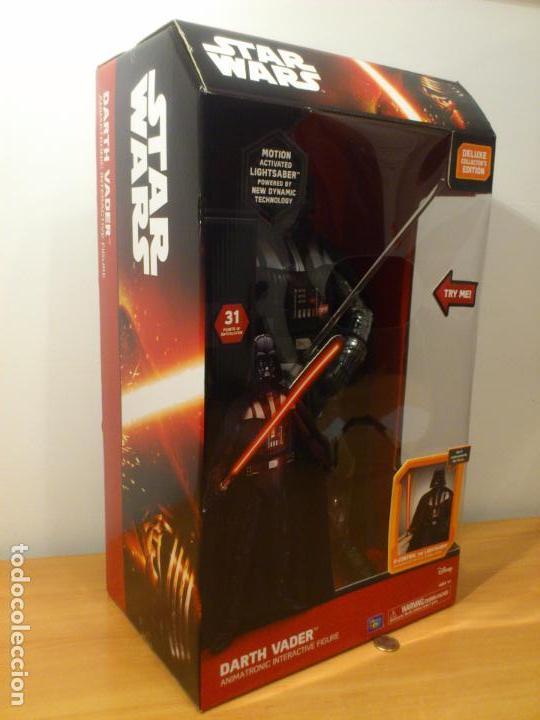 Figuras y Muñecos Star Wars: STAR WARS - DARTH VADER - FIGURA - 45 CM - MOVIMIENTO - LUCES SONIDOS - INTERACTIVO - THINKWAY NUEVO - Foto 4 - 94874191