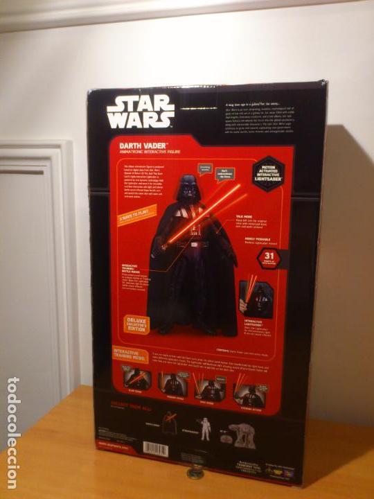 Figuras y Muñecos Star Wars: STAR WARS - DARTH VADER - FIGURA - 45 CM - MOVIMIENTO - LUCES SONIDOS - INTERACTIVO - THINKWAY NUEVO - Foto 6 - 94874191