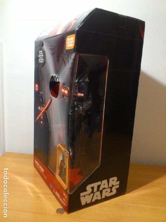 Figuras y Muñecos Star Wars: STAR WARS - DARTH VADER - FIGURA - 45 CM - MOVIMIENTO - LUCES SONIDOS - INTERACTIVO - THINKWAY NUEVO - Foto 8 - 94874191