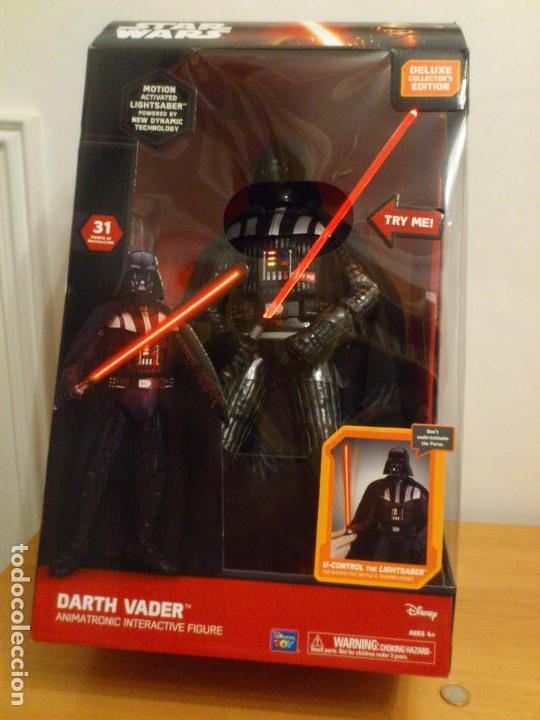 Figuras y Muñecos Star Wars: STAR WARS - DARTH VADER - FIGURA - 45 CM - MOVIMIENTO - LUCES SONIDOS - INTERACTIVO - THINKWAY NUEVO - Foto 9 - 94874191