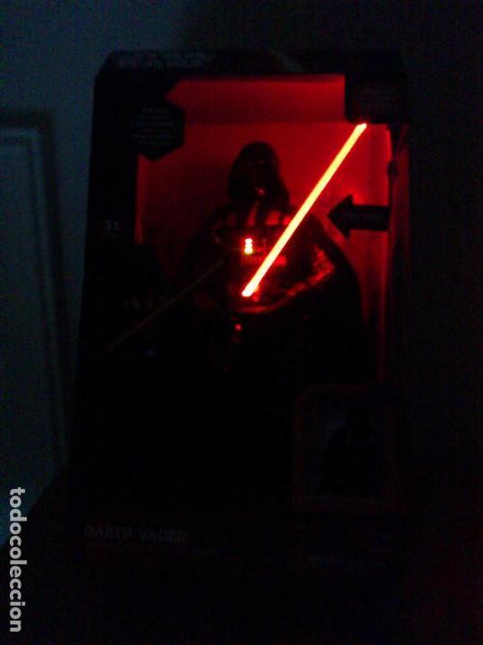 Figuras y Muñecos Star Wars: STAR WARS - DARTH VADER - FIGURA - 45 CM - MOVIMIENTO - LUCES SONIDOS - INTERACTIVO - THINKWAY NUEVO - Foto 10 - 94874191