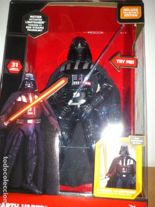 Figuras y Muñecos Star Wars: STAR WARS - DARTH VADER - FIGURA - 45 CM - MOVIMIENTO - LUCES SONIDOS - INTERACTIVO - THINKWAY NUEVO - Foto 11 - 94874191