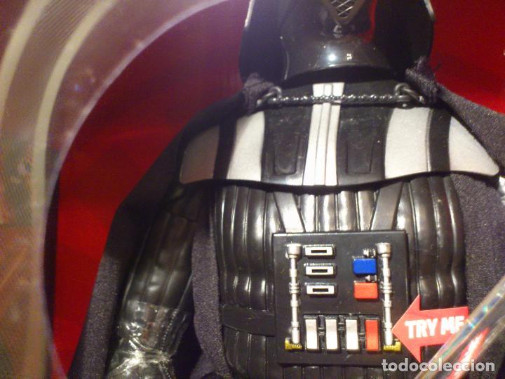 Figuras y Muñecos Star Wars: STAR WARS - DARTH VADER - FIGURA - 45 CM - MOVIMIENTO - LUCES SONIDOS - INTERACTIVO - THINKWAY NUEVO - Foto 14 - 94874191