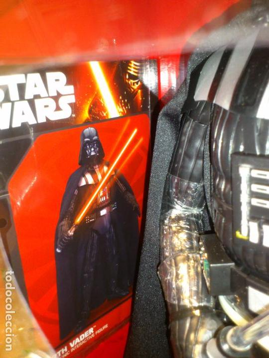 Figuras y Muñecos Star Wars: STAR WARS - DARTH VADER - FIGURA - 45 CM - MOVIMIENTO - LUCES SONIDOS - INTERACTIVO - THINKWAY NUEVO - Foto 16 - 94874191