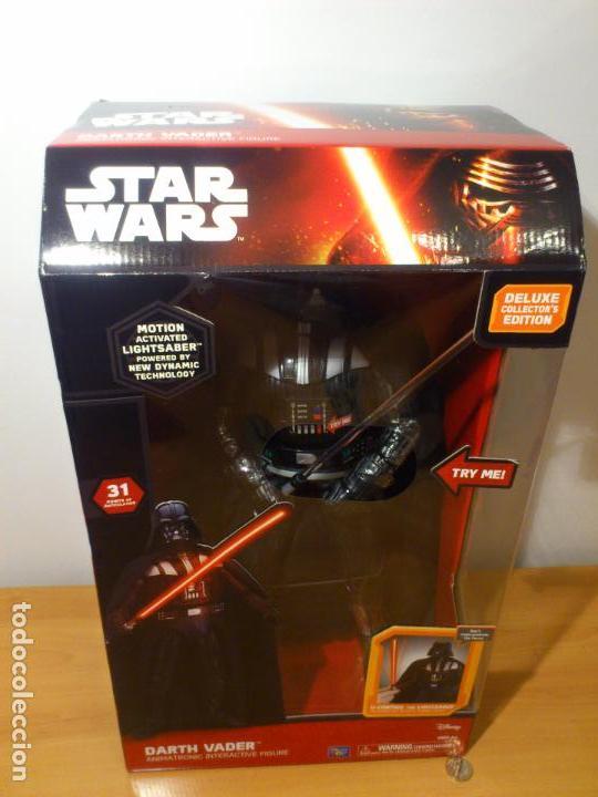 Figuras y Muñecos Star Wars: STAR WARS - DARTH VADER - FIGURA - 45 CM - MOVIMIENTO - LUCES SONIDOS - INTERACTIVO - THINKWAY NUEVO - Foto 28 - 94874191