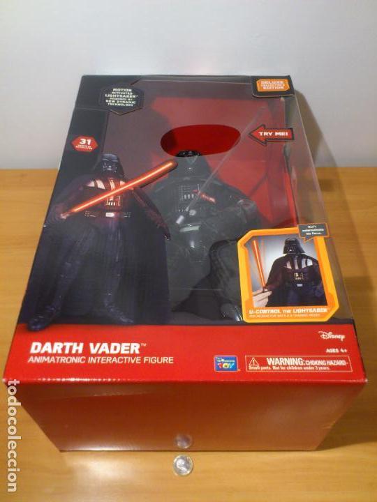 Figuras y Muñecos Star Wars: STAR WARS - DARTH VADER - FIGURA - 45 CM - MOVIMIENTO - LUCES SONIDOS - INTERACTIVO - THINKWAY NUEVO - Foto 30 - 94874191