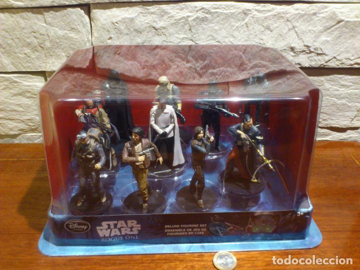 Figuras y Muñecos Star Wars: STAR WARS - 10 FIGURAS - SET DE LUJO - DE LUXE - ROGUE ONE - DISNEY STORE - NUEVO - DESCATALOGADO - Foto 3 - 107906054