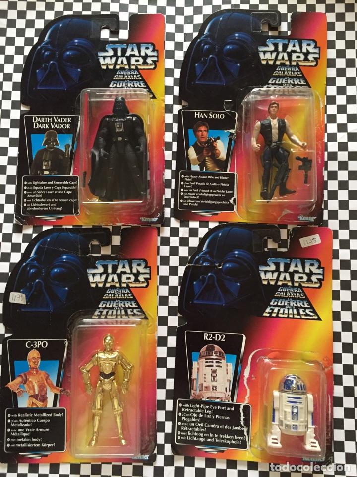 STAR WARS DART VADER,HAN SOLO,C-3PO-R2-D2 KENNER (Juguetes - Figuras de Acción - Star Wars)