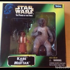 Figuras y Muñecos Star Wars: PACK FIGURAS -KABE AND MUFTAK- STAR WARS KENNER. Lote 107457172
