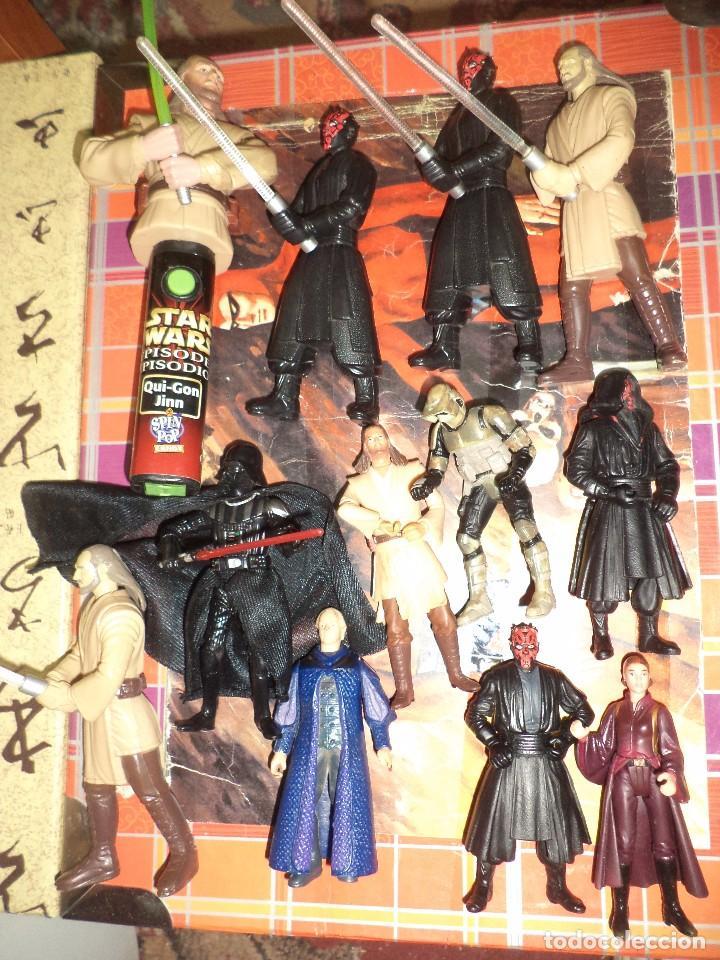 LOTE 12 FIGURAS LA GUERRA DE LAS GALAXIAS STAR WARS EPISODIO I.1998 / 1999. (Juguetes - Figuras de Acción - Star Wars)