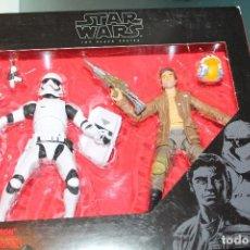 Figuras y Muñecos Star Wars: FIGURAS STAR WARS BLACK SERIES POE DAMERON Y STORMTROOPER SIN ABRIR HASBRO. Lote 96346723