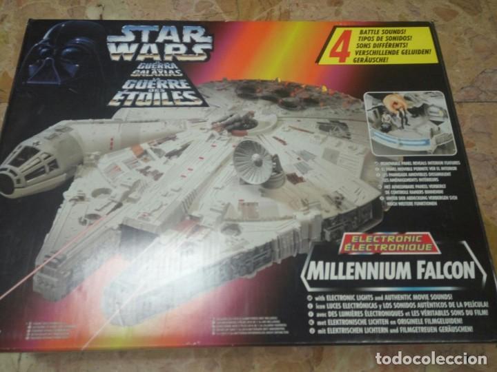 Figuras y Muñecos Star Wars: NAVE HALCÓN MILENARIO. MILLENNIUM FALCON. DE KENNER. AÑO 1995. ELECTRÓNICO. LUCAS FILM. STAR WARS. - Foto 2 - 96567947