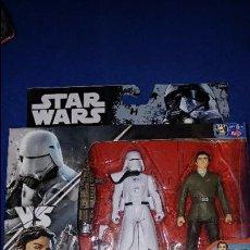 Figuras y Muñecos Star Wars: STAR WARS SNOWTROOPER OFFICER & POE DAMERON ESTADO NUEVO . Lote 96885235