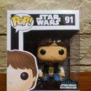 Figuras y Muñecos Star Wars: STAR WARS - FUNKO - HAN SOLO - 91 - POP - EUROPE STAR WARS CELEBRATION - 2016 - NUEVO - EXCLUSIVA. Lote 160323158