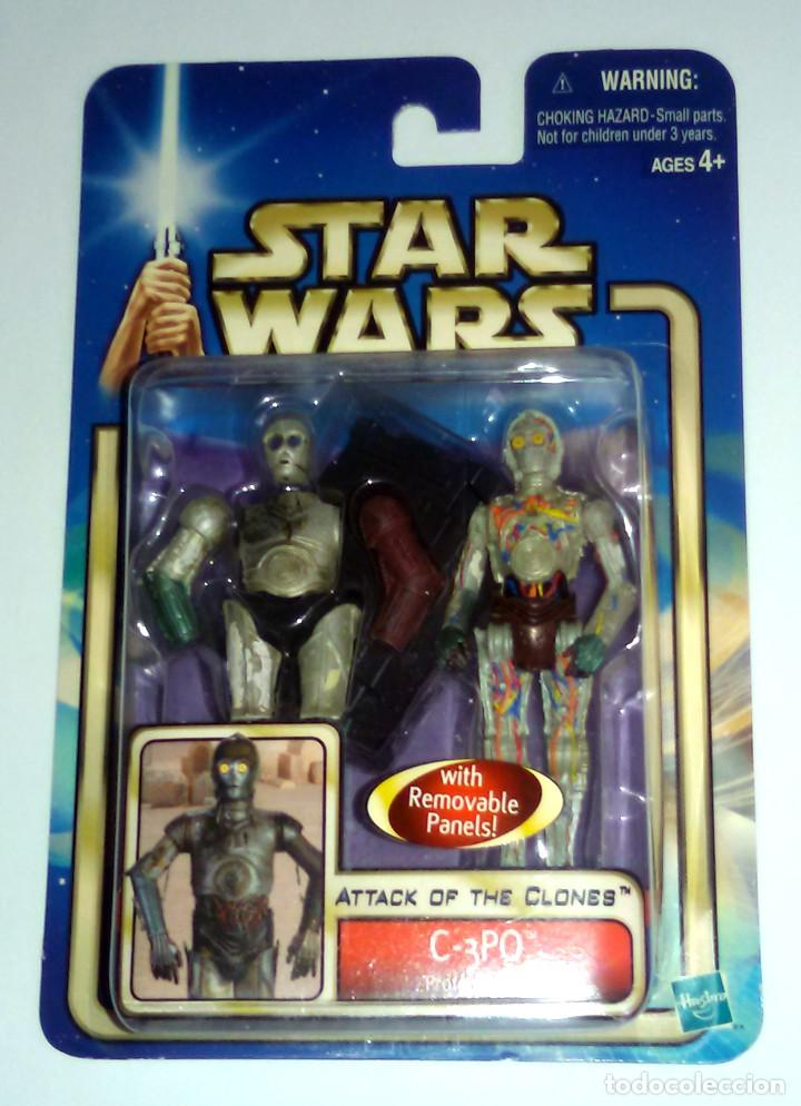 STAR WARS # C-3PO # ATTACK OF THE CLONES - NUEVO EN SU BLISTER ORIGINAL DE HASBRO. (Juguetes - Figuras de Acción - Star Wars)